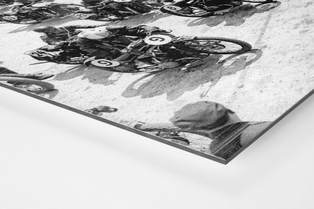 Motorradrennen 1930 als auf Alu-Dibond kaschierter Fotoabzug (Detail)
