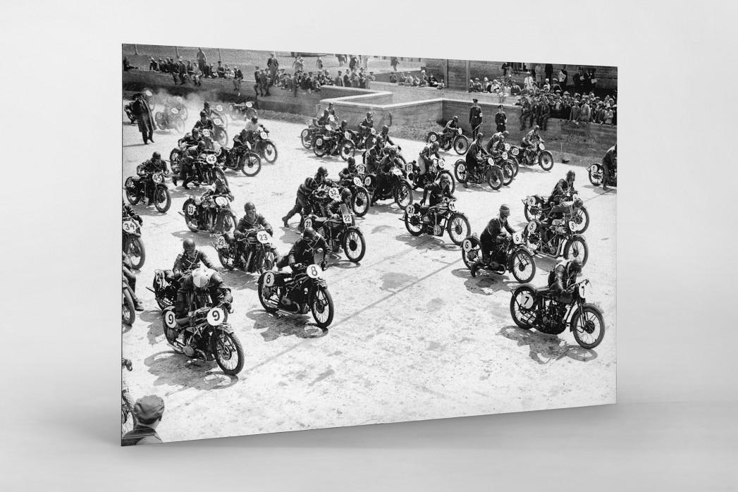 Motorradrennen 1930 als auf Alu-Dibond kaschierter Fotoabzug
