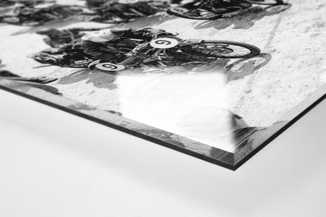 Motorradrennen 1930 als Direktdruck auf Alu-Dibond hinter Acrylglas (Detail)