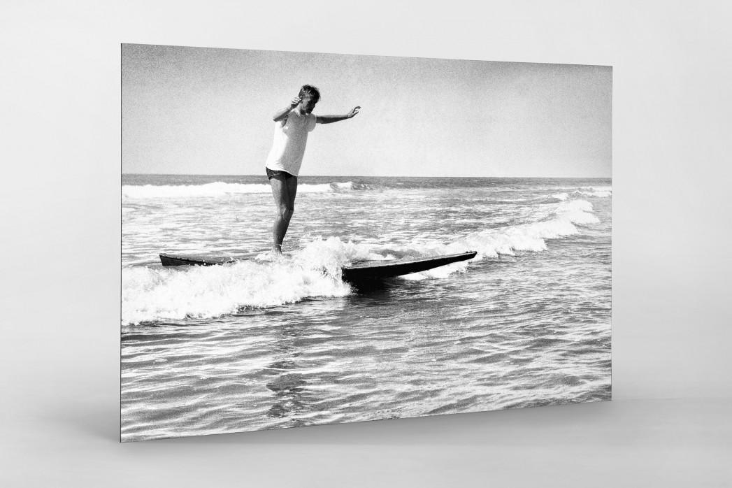 Surfen 1960 als auf Alu-Dibond kaschierter Fotoabzug