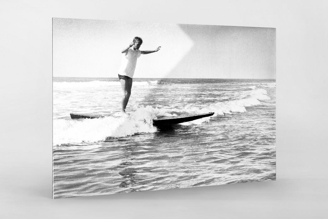 Surfen 1960 als Direktdruck auf Alu-Dibond hinter Acrylglas