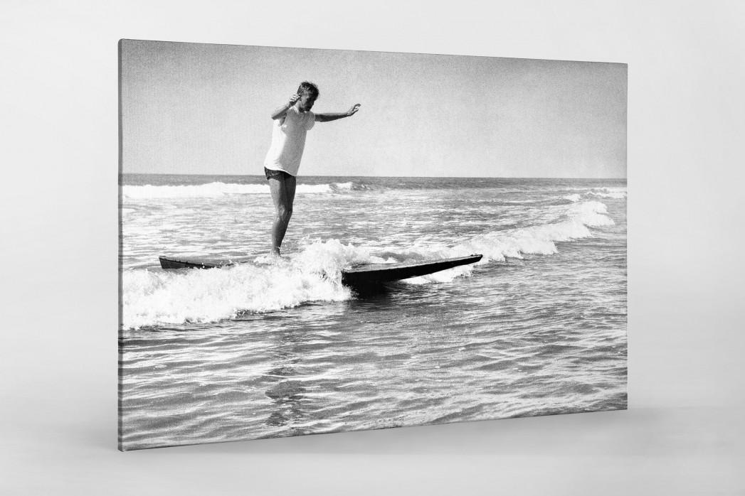Surfen 1960 als Leinwand auf Keilrahmen gezogen