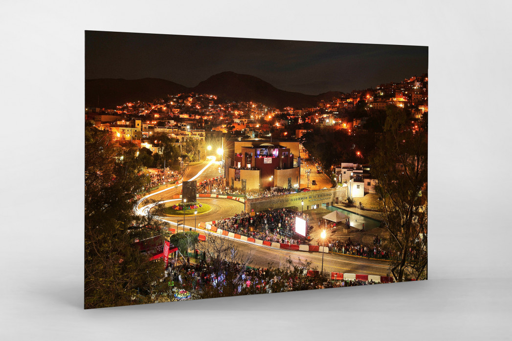 Rallye Mexico (2) als auf Alu-Dibond kaschierter Fotoabzug
