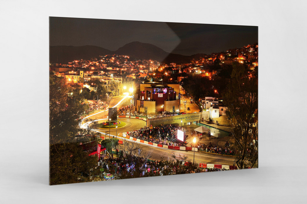 Rallye Mexico (2) als Direktdruck auf Alu-Dibond hinter Acrylglas