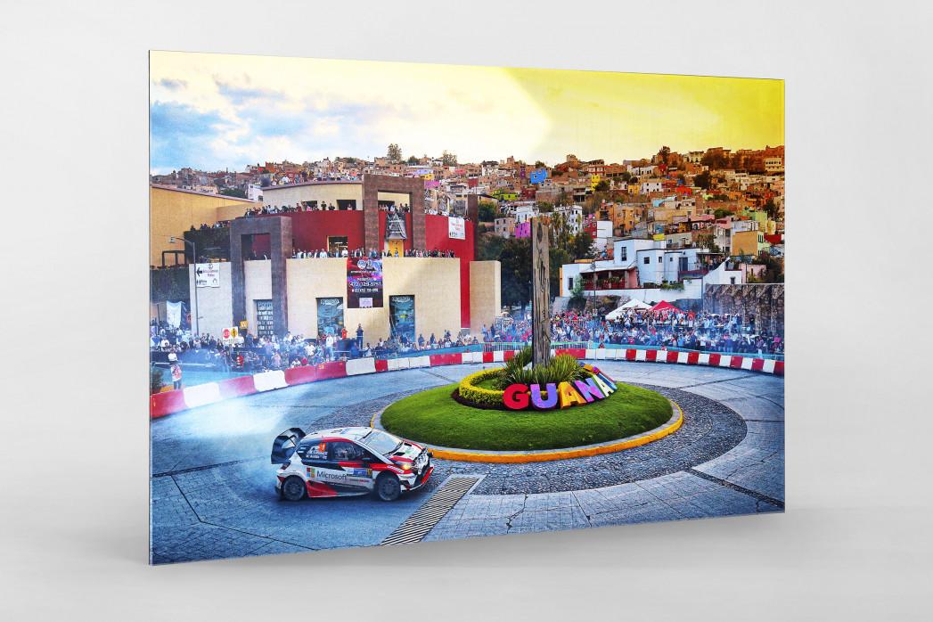 Rallye Mexico (4) als Direktdruck auf Alu-Dibond hinter Acrylglas