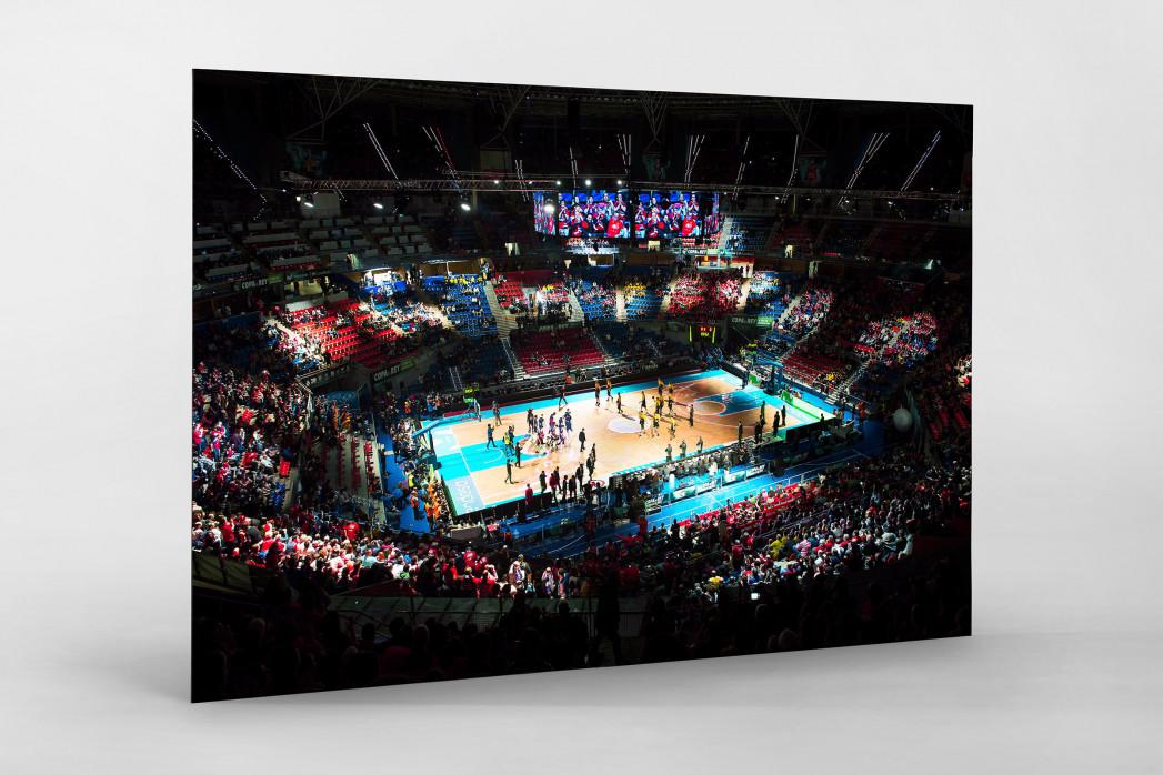 Basketball in Vitoria als auf Alu-Dibond kaschierter Fotoabzug