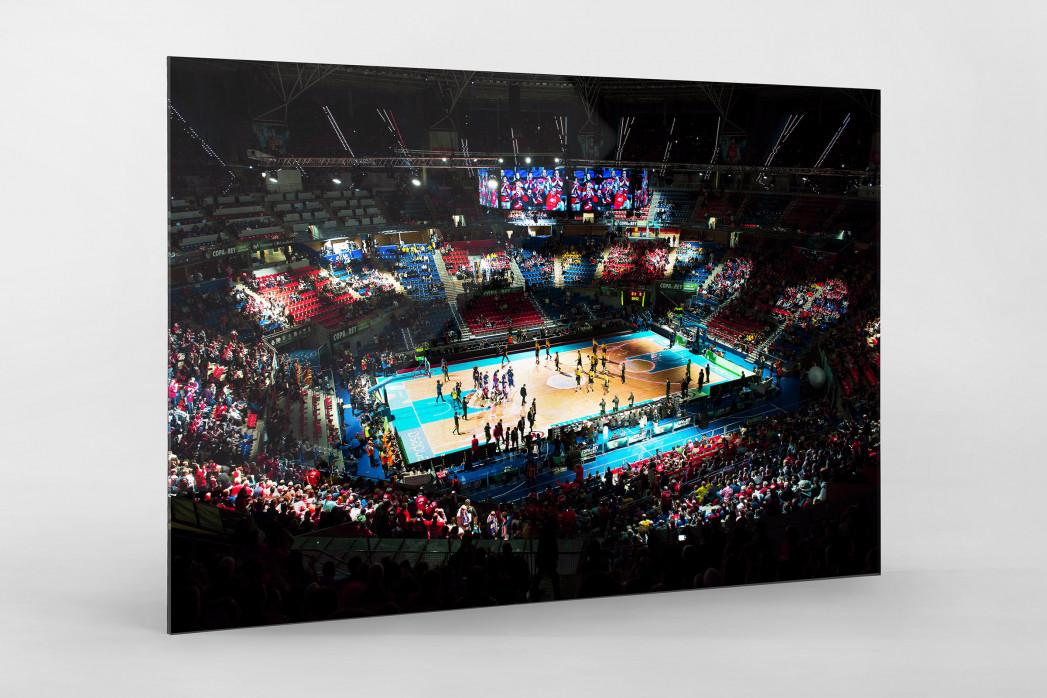 Basketball in Vitoria als Direktdruck auf Alu-Dibond hinter Acrylglas