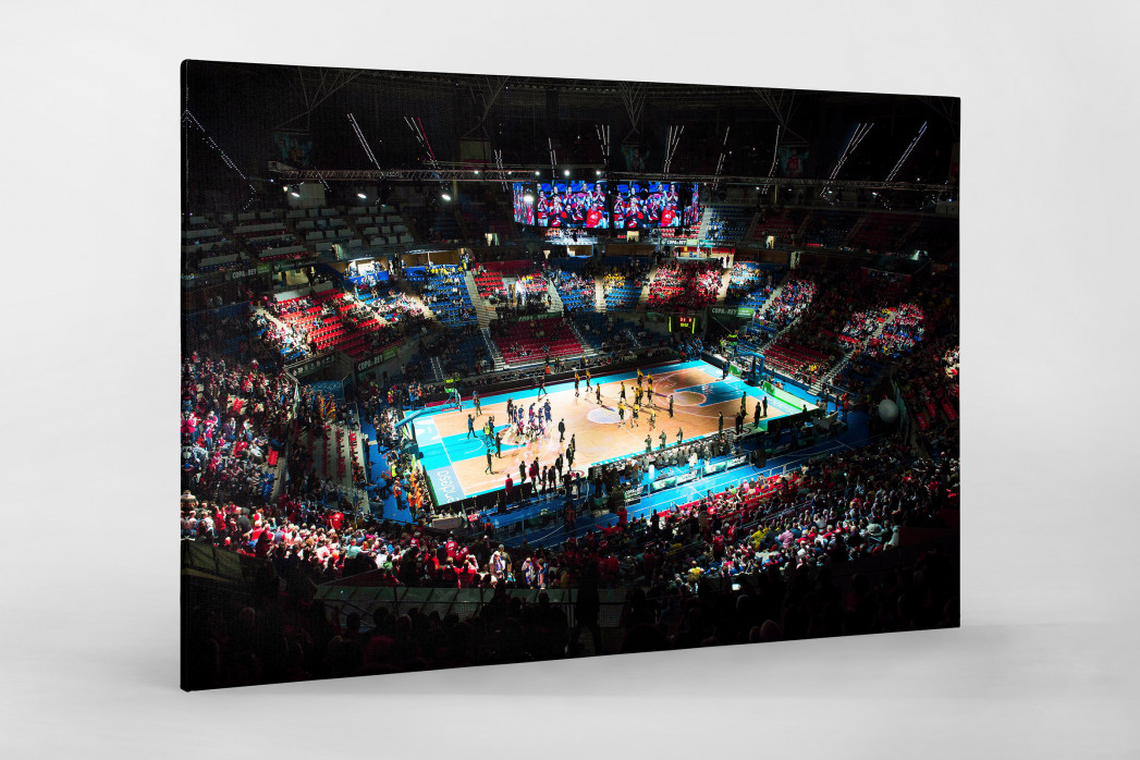 Basketball in Vitoria als Leinwand auf Keilrahmen gezogen