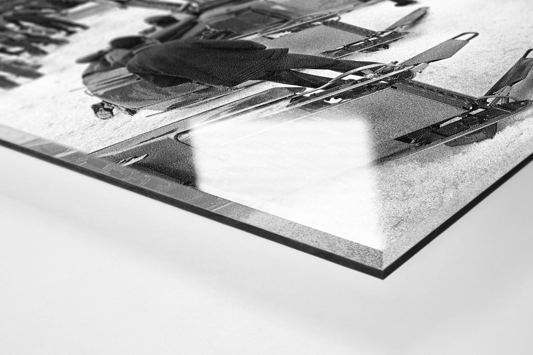 Bob Vorbereitungen als Direktdruck auf Alu-Dibond hinter Acrylglas (Detail)