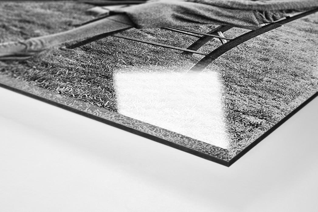 Warten auf dem Golfplatz als Direktdruck auf Alu-Dibond hinter Acrylglas (Detail)
