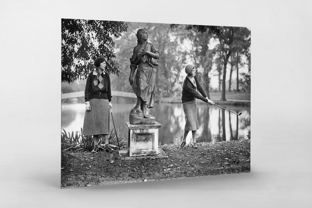 Damengolf in Ranelagh als auf Alu-Dibond kaschierter Fotoabzug