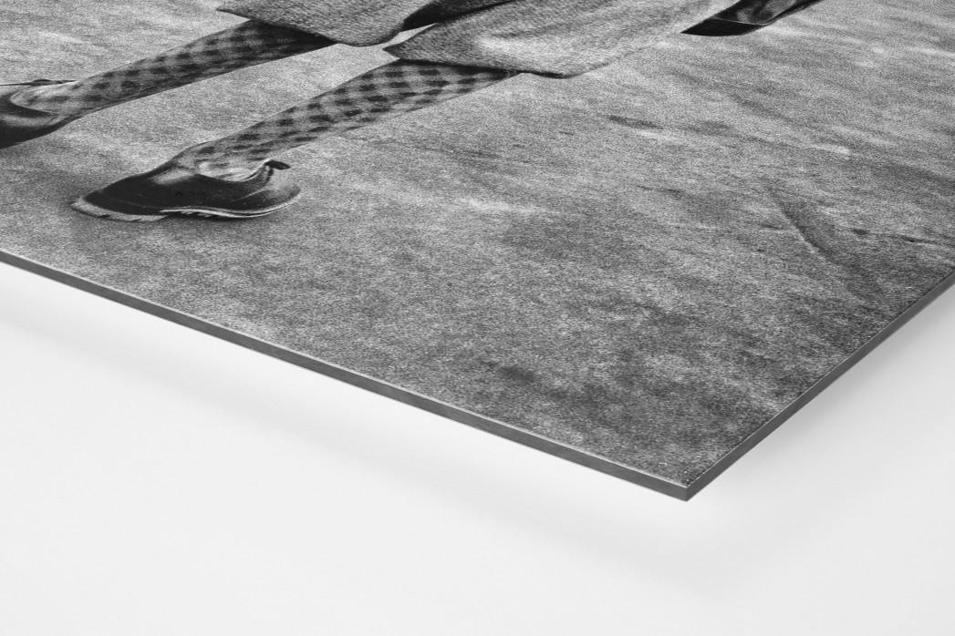 Golferin in Knickerbocker als auf Alu-Dibond kaschierter Fotoabzug (Detail)