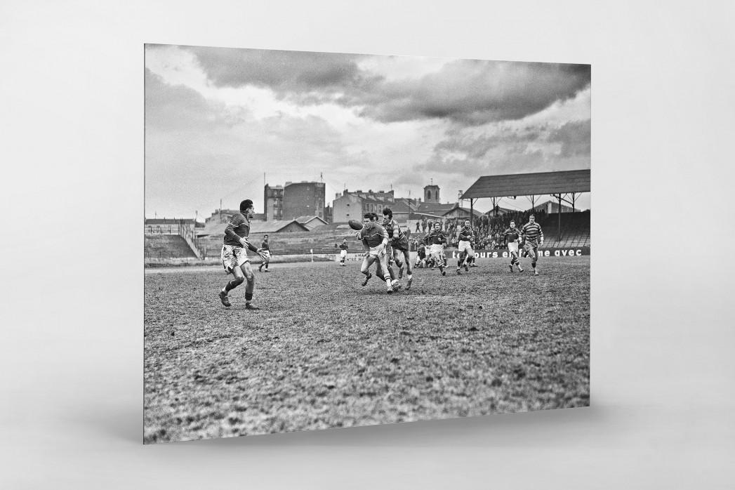 Rugby in Paris als auf Alu-Dibond kaschierter Fotoabzug