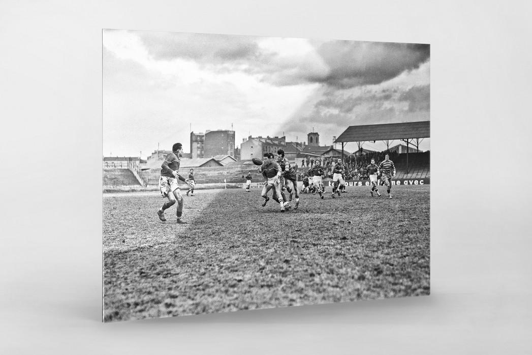 Rugby in Paris als Direktdruck auf Alu-Dibond hinter Acrylglas