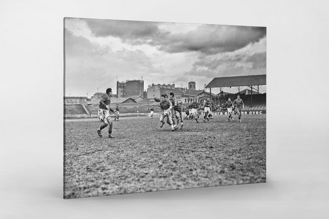 Rugby in Paris als Leinwand auf Keilrahmen gezogen