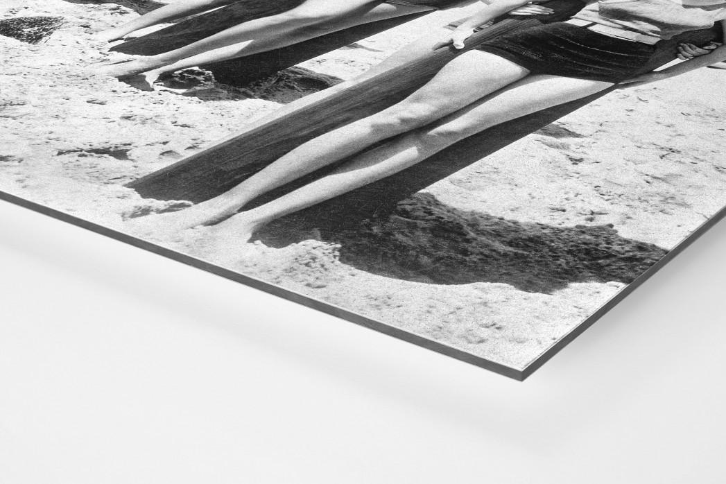Long Boards in Long Beach als auf Alu-Dibond kaschierter Fotoabzug (Detail)