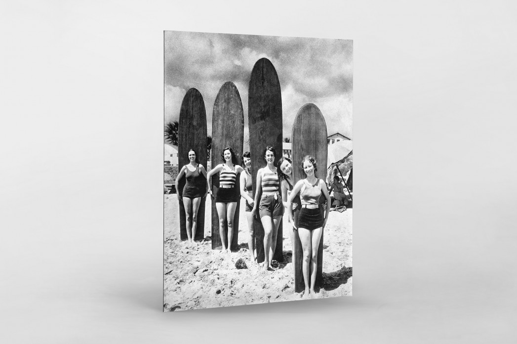 Long Boards in Long Beach als auf Alu-Dibond kaschierter Fotoabzug