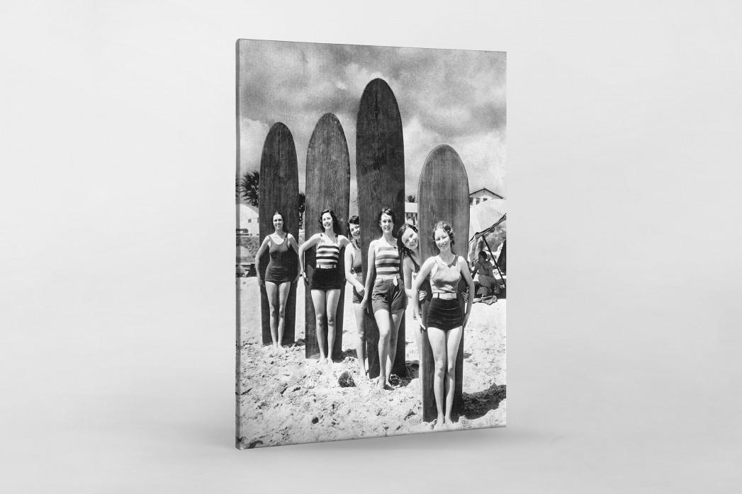 Long Boards in Long Beach als Leinwand auf Keilrahmen gezogen