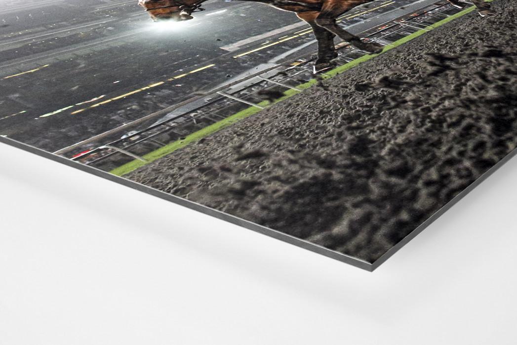 Galopprennbahn in Meydan als auf Alu-Dibond kaschierter Fotoabzug (Detail)