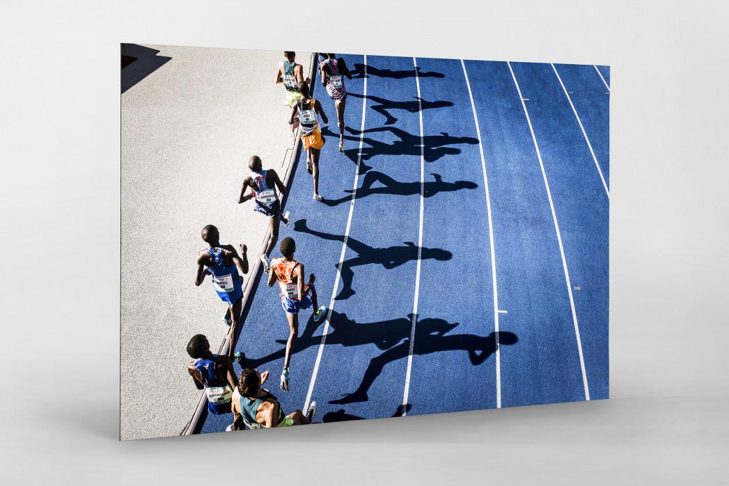 Momentaufnahme 5000m Lauf als auf Alu-Dibond kaschierter Fotoabzug