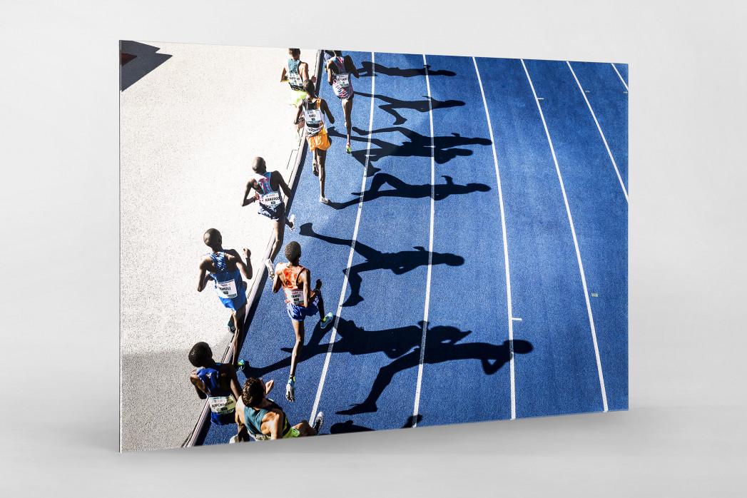 Momentaufnahme 5000m Lauf als Direktdruck auf Alu-Dibond hinter Acrylglas