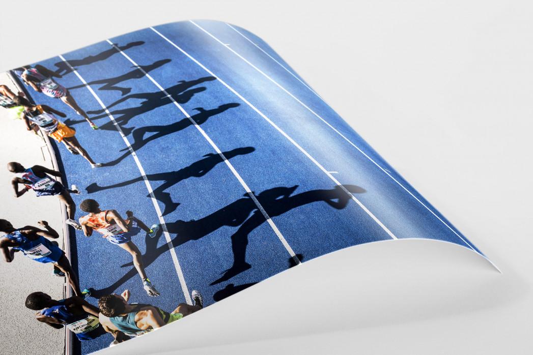 Momentaufnahme 5000m Lauf als FineArt-Print
