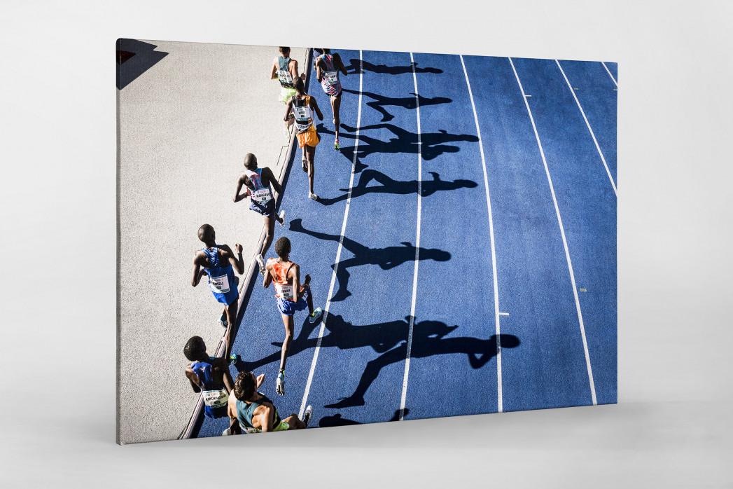 Momentaufnahme 5000m Lauf als Leinwand auf Keilrahmen gezogen