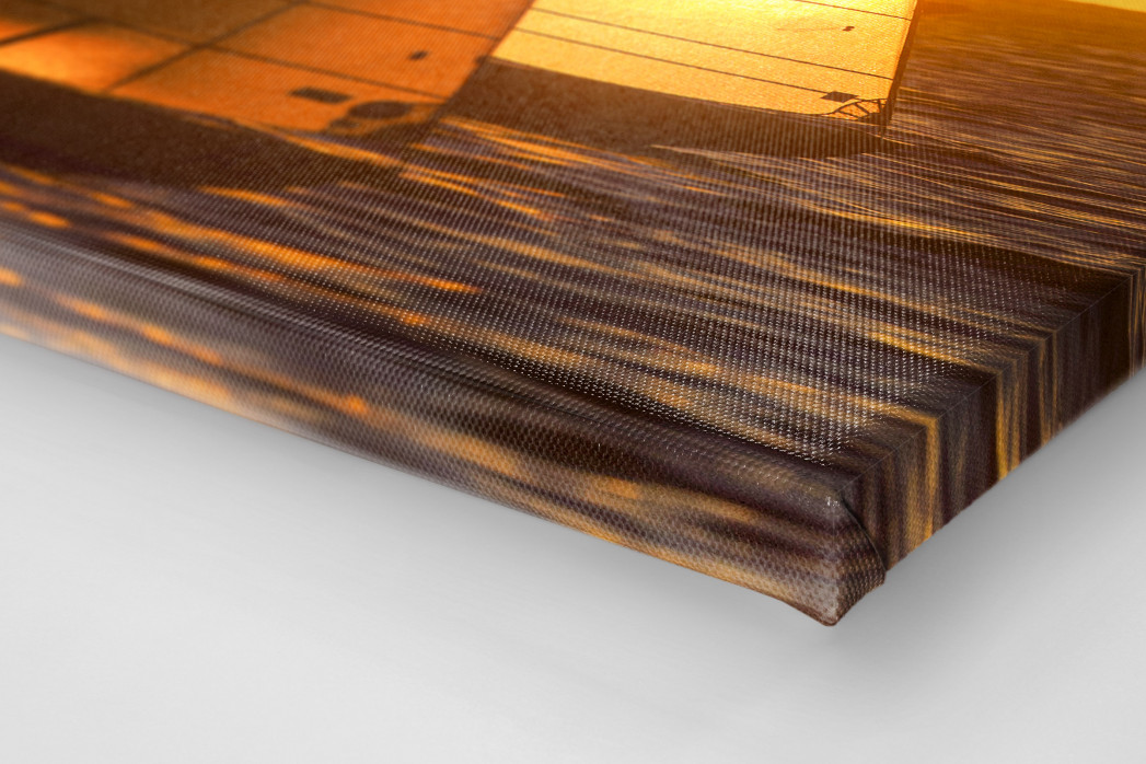 Barcolana (7) als Leinwand auf Keilrahmen gezogen (Detail)