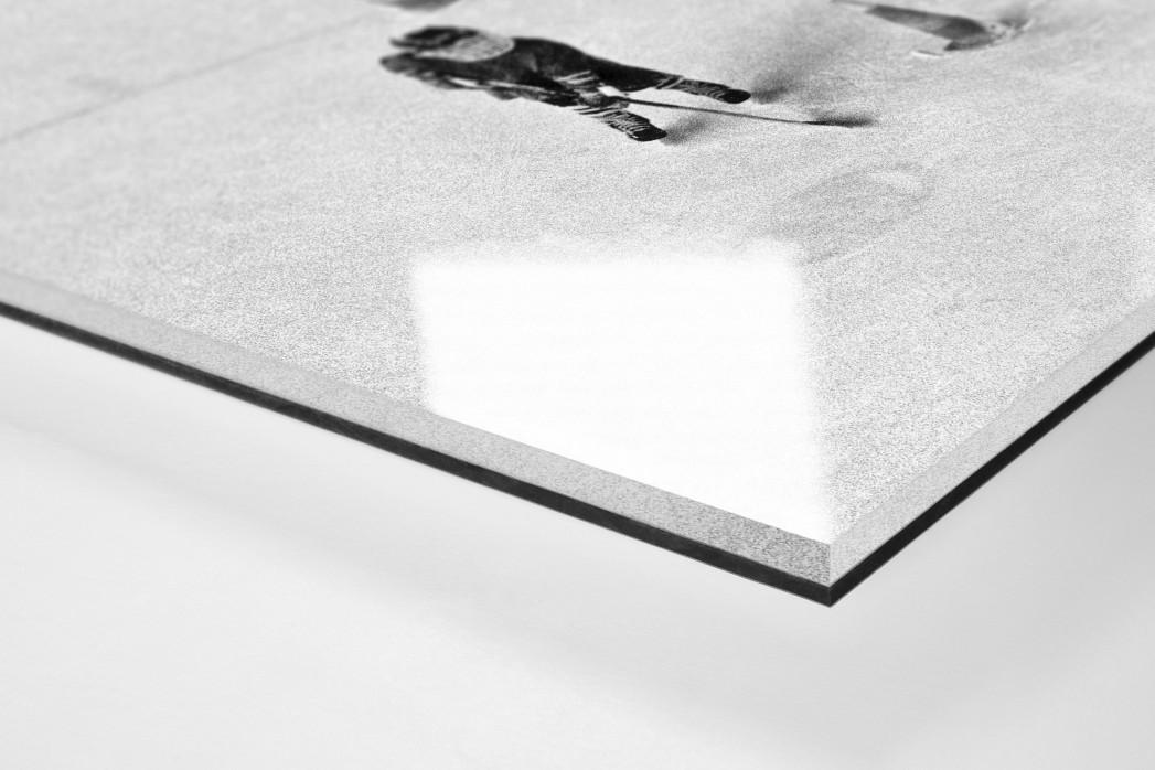 Eishockeynachwuchs in den Siebzigern als Direktdruck auf Alu-Dibond hinter Acrylglas (Detail)