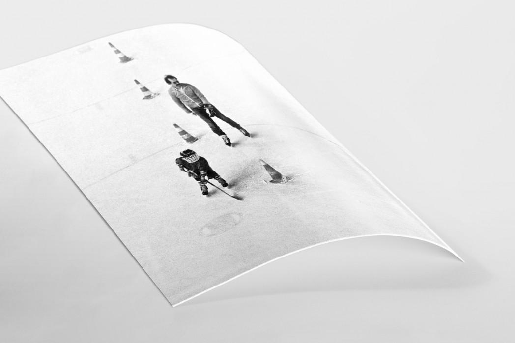 Eishockeynachwuchs in den Siebzigern als FineArt-Print