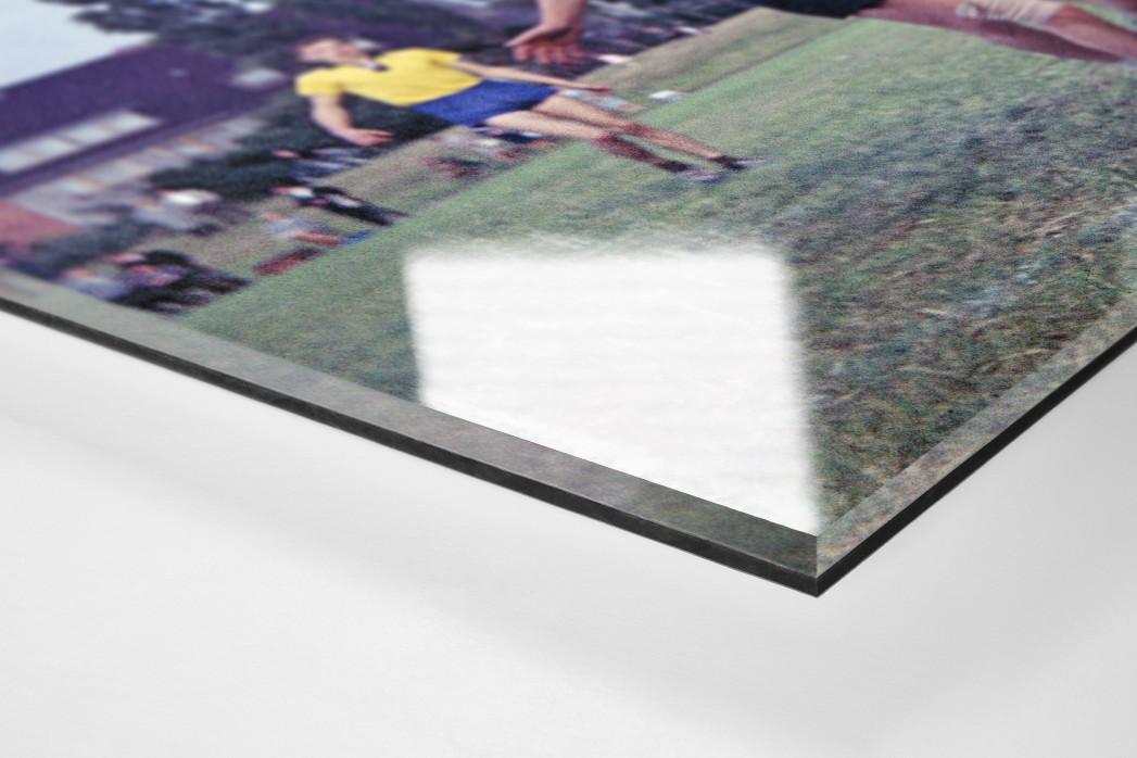 Feldhandball in den Sechzigern als Direktdruck auf Alu-Dibond hinter Acrylglas (Detail)