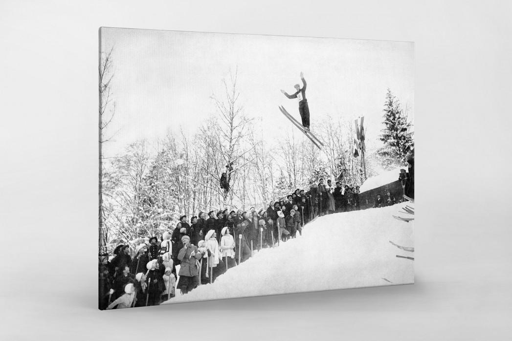 Skisprung in Chamonix als Leinwand auf Keilrahmen gezogen