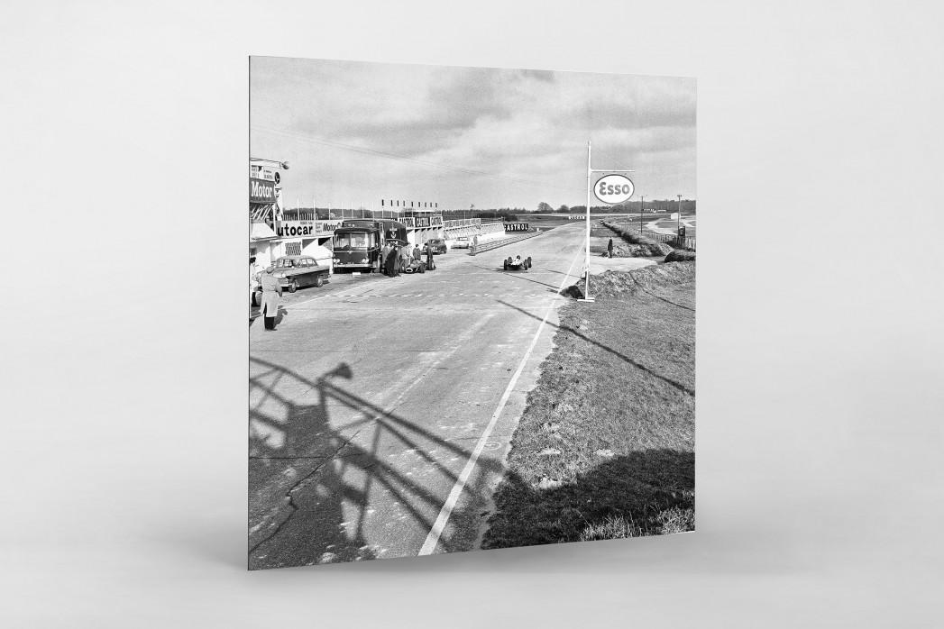 Snetterton Motor Racing Circuit 1964 als auf Alu-Dibond kaschierter Fotoabzug