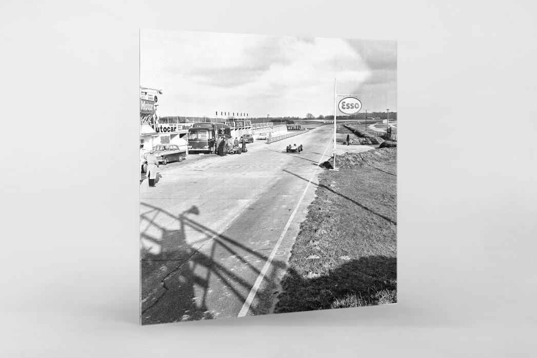 Snetterton Motor Racing Circuit 1964 als Direktdruck auf Alu-Dibond hinter Acrylglas