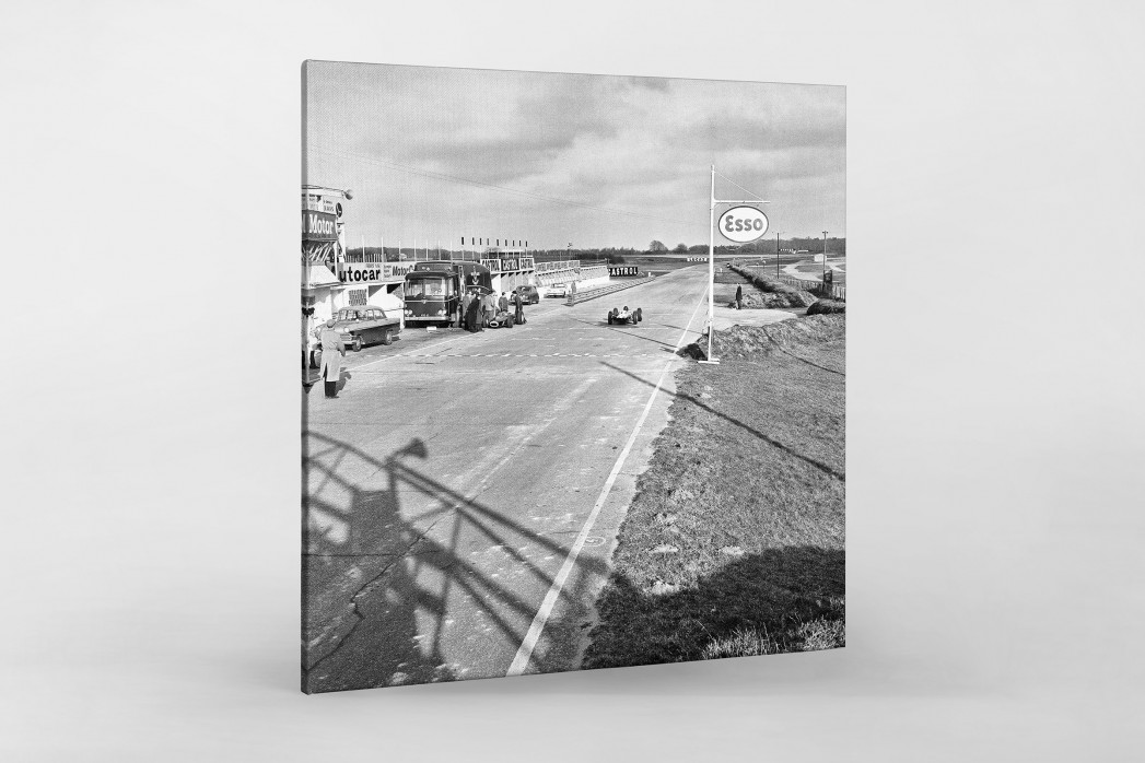 Snetterton Motor Racing Circuit 1964 als Leinwand auf Keilrahmen gezogen