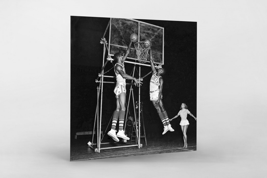 Training der Basketballkünstler als auf Alu-Dibond kaschierter Fotoabzug