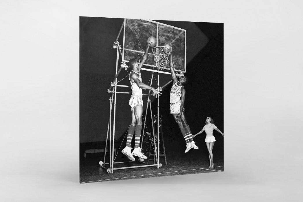 Training der Basketballkünstler als Direktdruck auf Alu-Dibond hinter Acrylglas