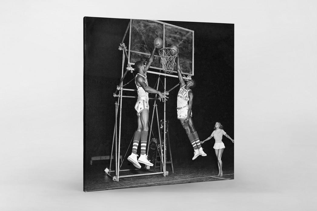 Training der Basketballkünstler als Leinwand auf Keilrahmen gezogen