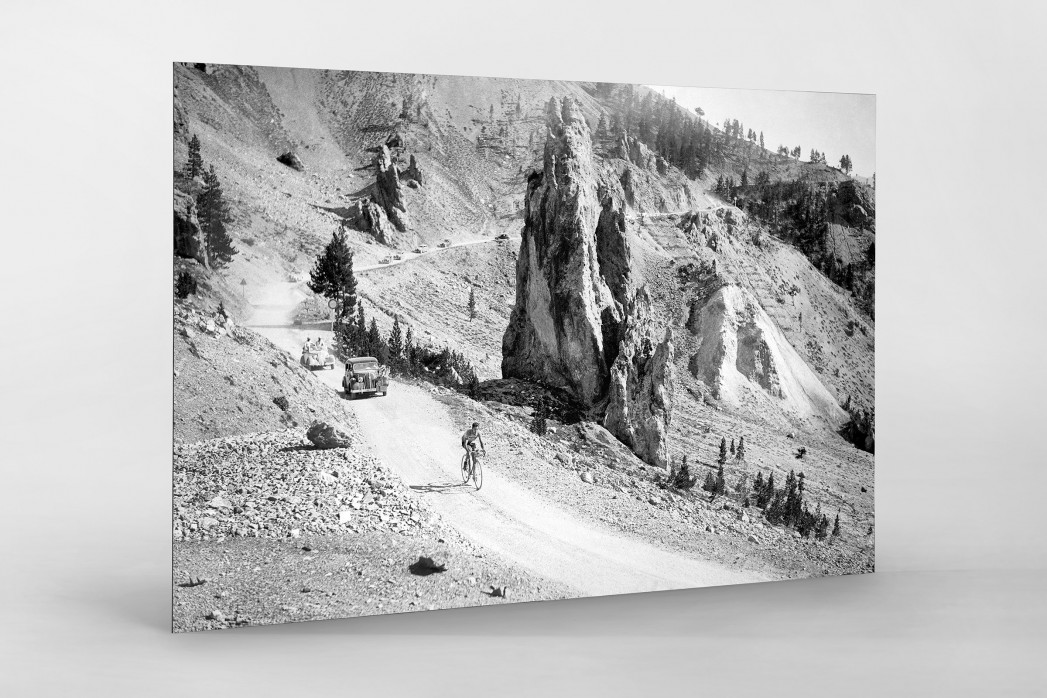 Am Col d'Izoard bei der Tour 1938 als auf Alu-Dibond kaschierter Fotoabzug