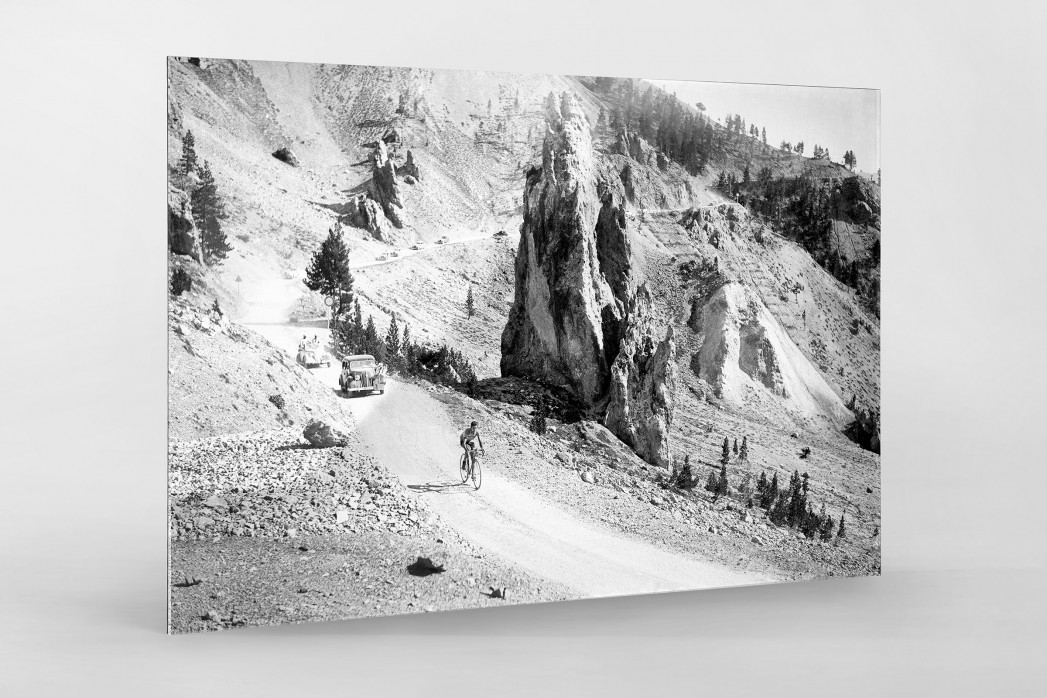 Am Col d'Izoard bei der Tour 1938 als Direktdruck auf Alu-Dibond hinter Acrylglas