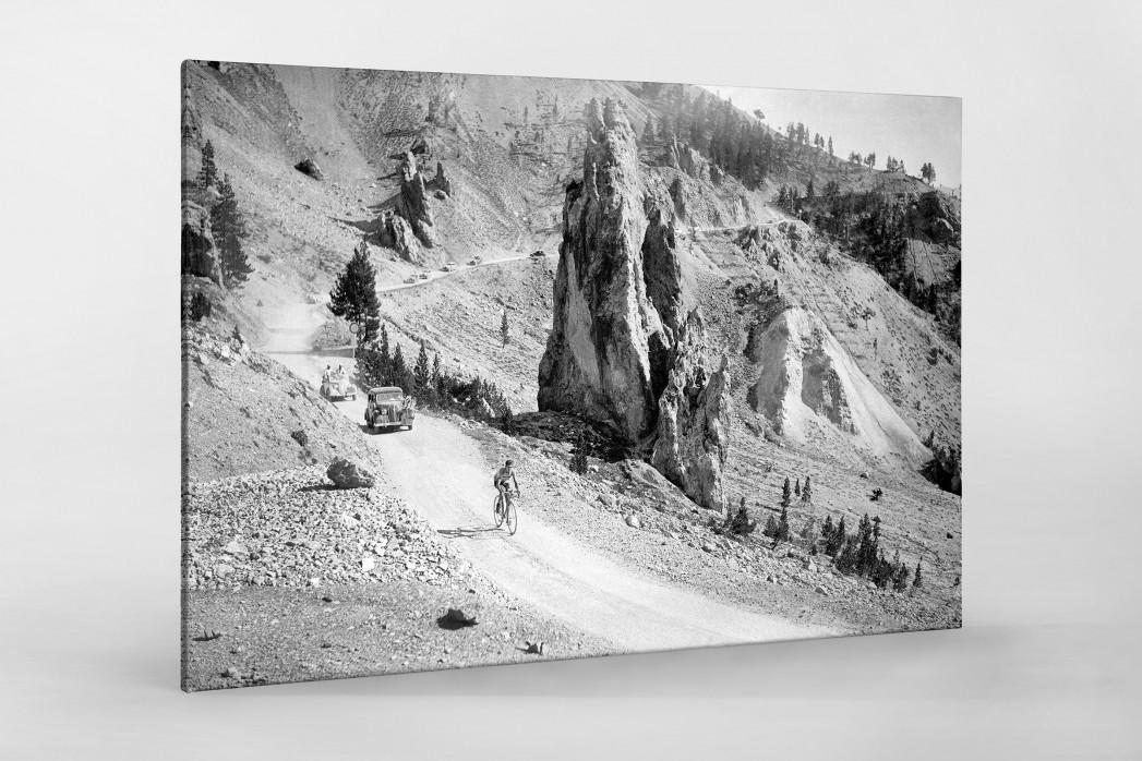 Am Col d'Izoard bei der Tour 1938 als Leinwand auf Keilrahmen gezogen