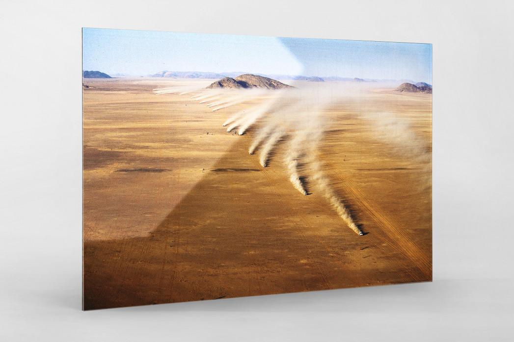 Autos im mauretanischen Sand als Direktdruck auf Alu-Dibond hinter Acrylglas