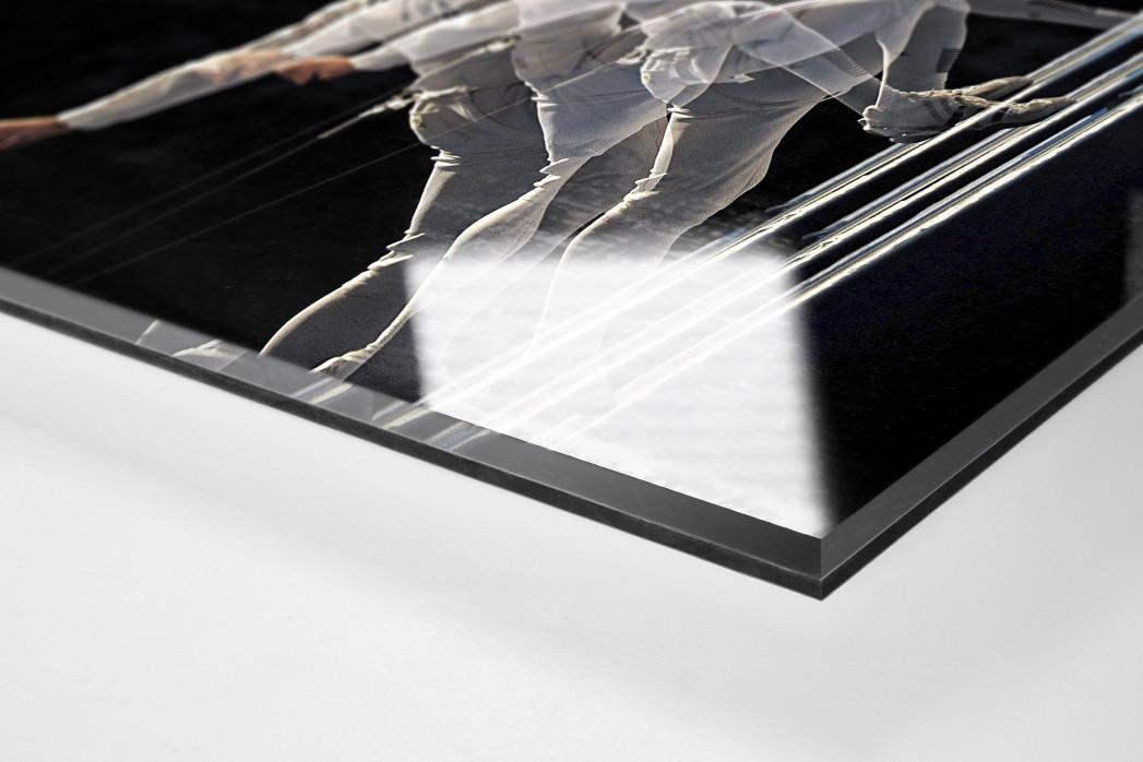 Fechten als Direktdruck auf Alu-Dibond hinter Acrylglas (Detail)