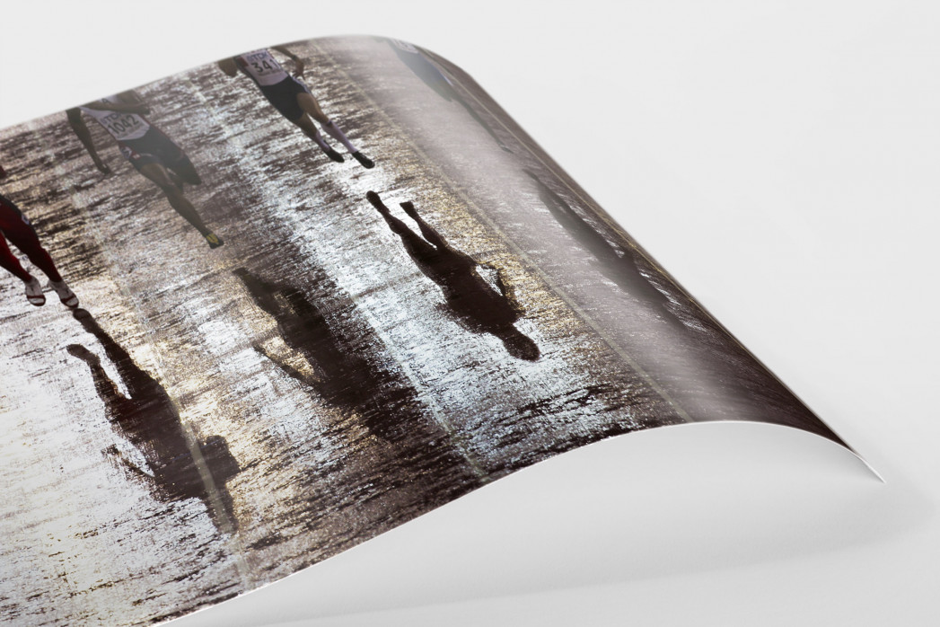 Läufer mit Schatten als FineArt-Print