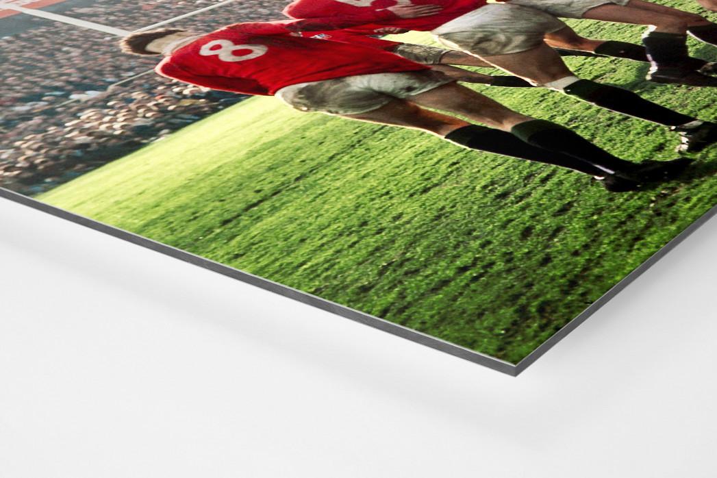 Rugby 1971 als auf Alu-Dibond kaschierter Fotoabzug (Detail)
