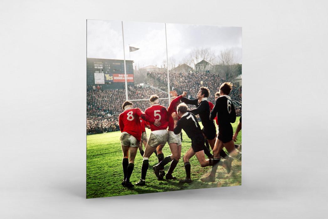 Rugby 1971 als auf Alu-Dibond kaschierter Fotoabzug