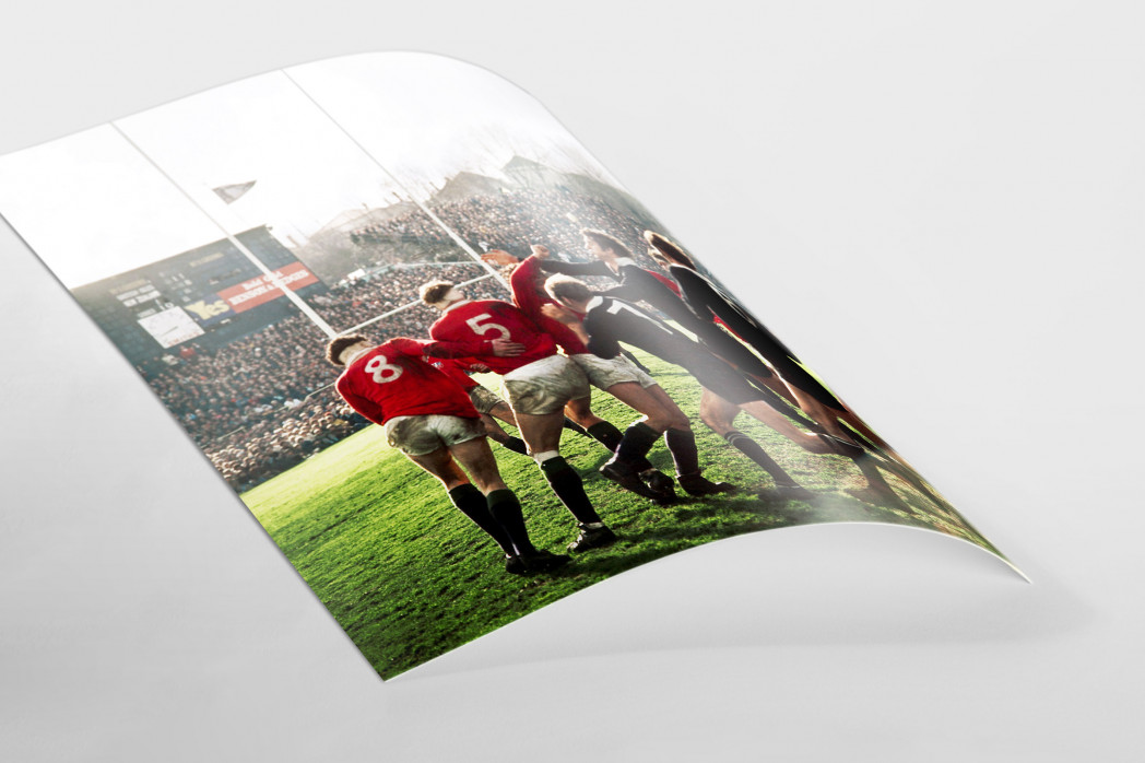Rugby 1971 als FineArt-Print