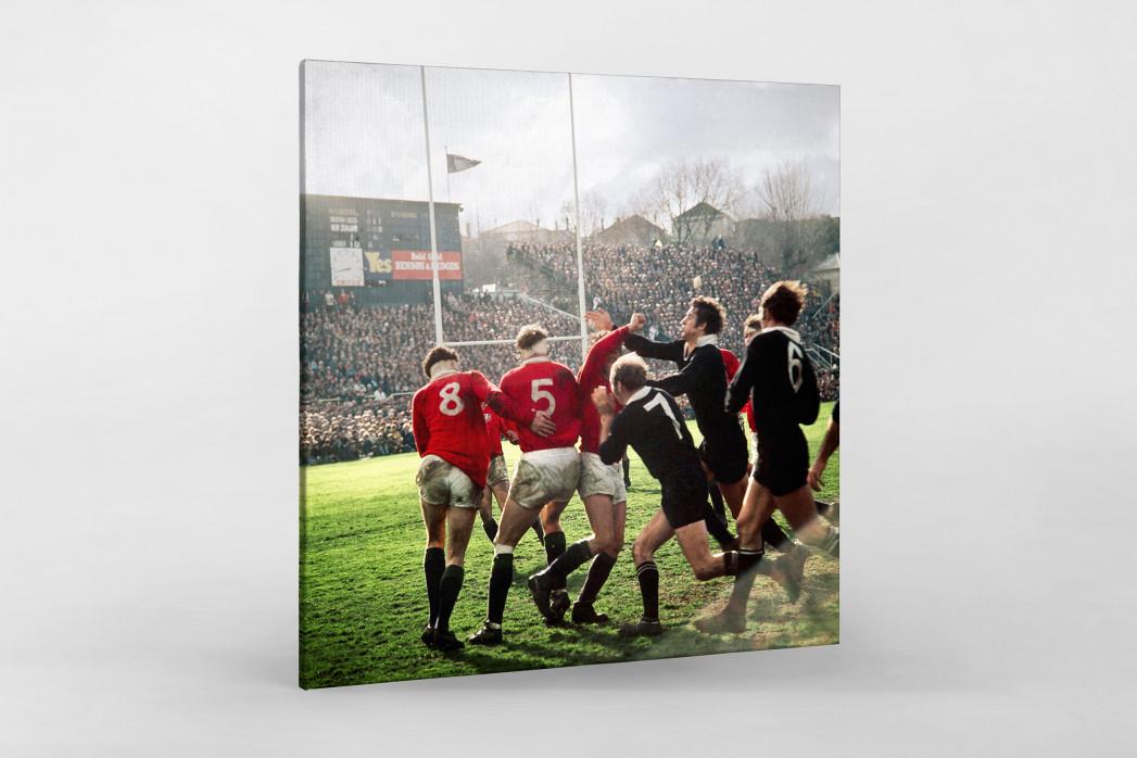 Rugby 1971 als Leinwand auf Keilrahmen gezogen