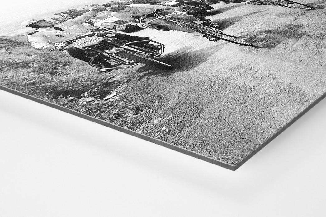 Mit dem Schwamm bei der Tour 1964 als auf Alu-Dibond kaschierter Fotoabzug (Detail)