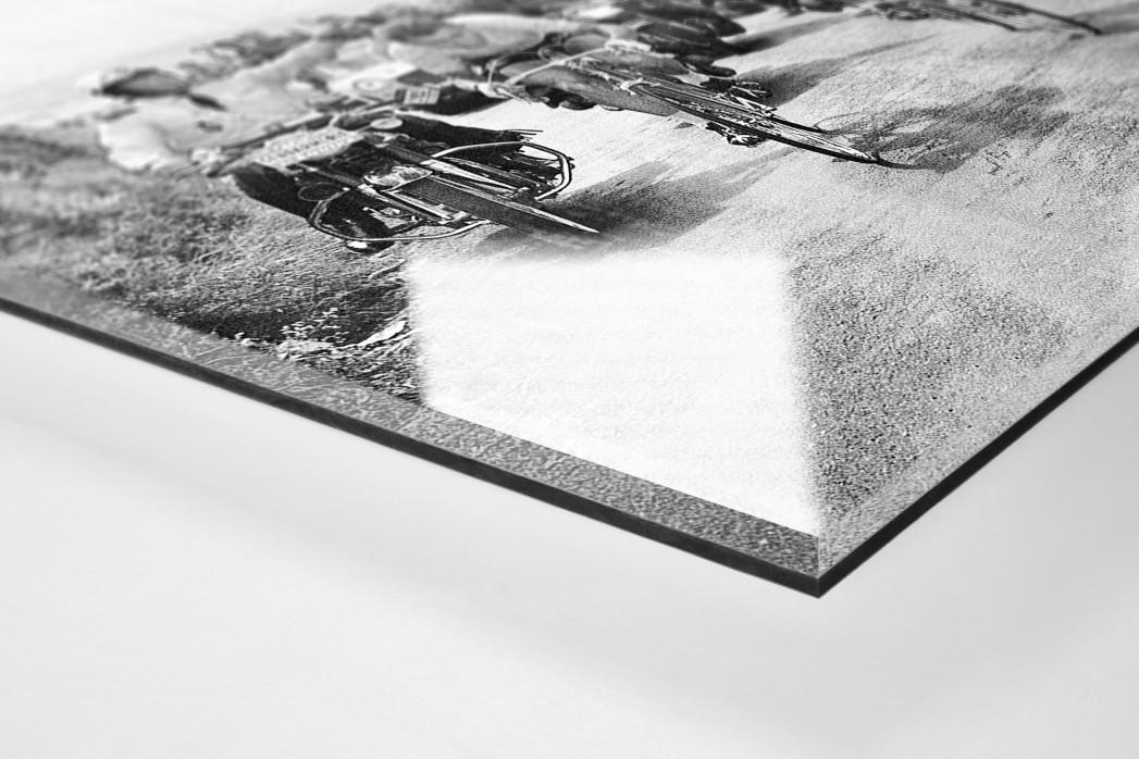 Mit dem Schwamm bei der Tour 1964 als Direktdruck auf Alu-Dibond hinter Acrylglas (Detail)